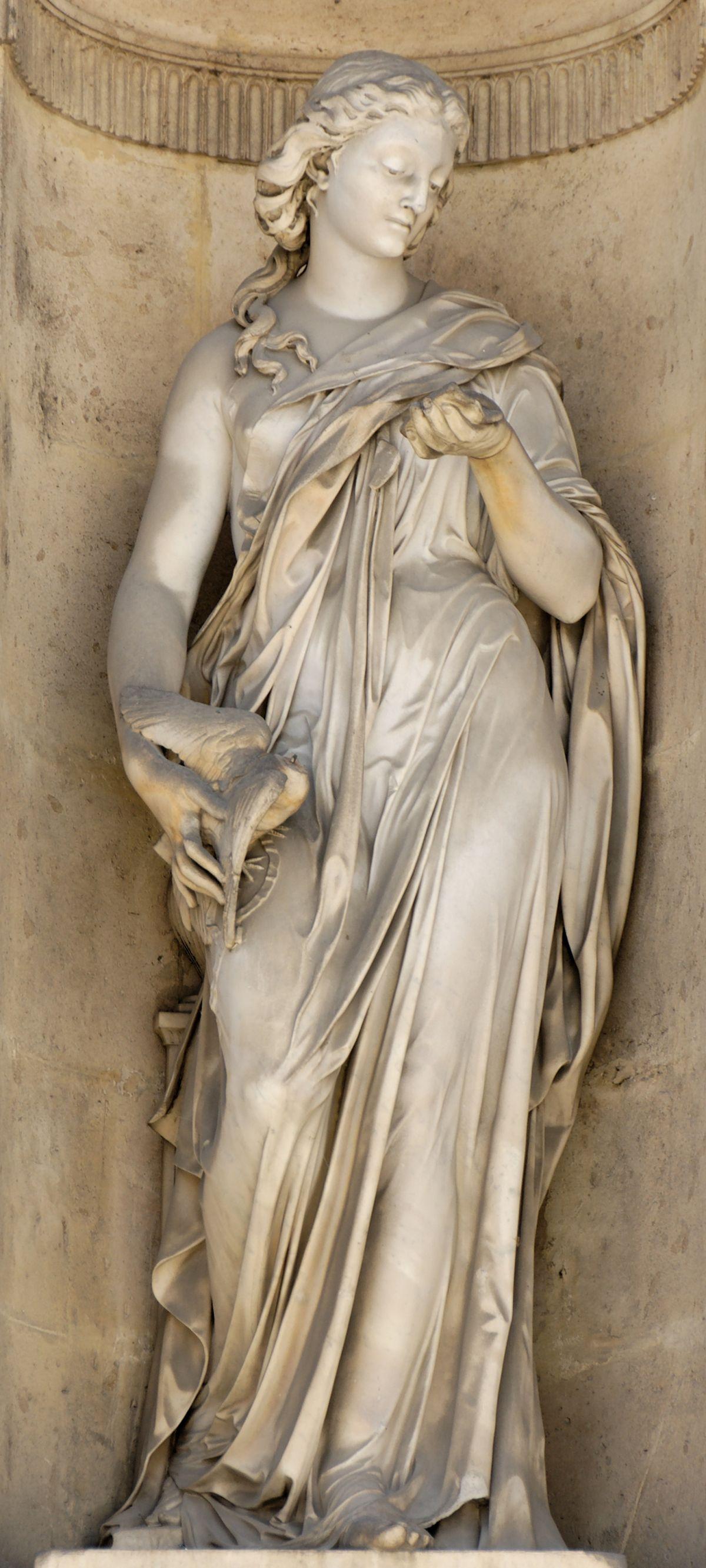 Statue le Message (Cour carrée du Louvre à Paris – réalisé par Alexandre Oliva