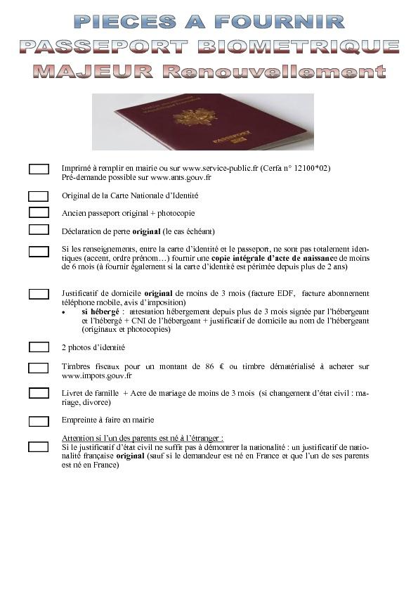Mairie De Saillagouse Passeport